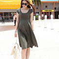 2017 Summer Fashion Maternity Dresses Clothes For Pregnant Women Slim Pregnancy Dress Wear