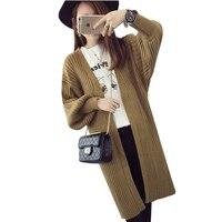 Autumn Winter Casual Loose Knitted Jacket Fashion Women Long Cardigans Basic Sweaters Coat Feminino Elegant Cardigan