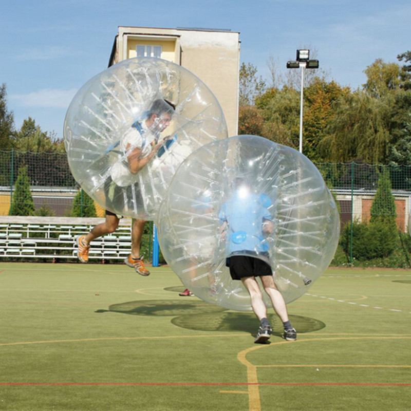 Free Shipping Inflatable Bubble Soccer Ball 1.5m dia 0.8mm PVC Bumper Football For Adlt Outdoor Games Zorb Ball Collision Ball