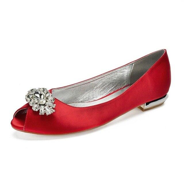 Creativesugar lady block heel flats open toe slip on evening dress shoes  oval crystal brooch bridal wedding party prom ball flat 9dd3b4642ca1