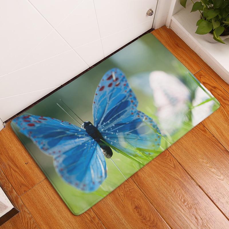 2017Nuevas alfombras con estampado de mariposa HD Alfombrillas - Textiles para el hogar - foto 3