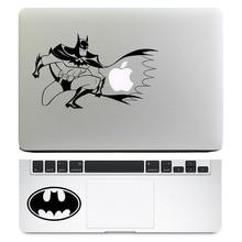 "Batman 2 em 1 notebook conjunto de decalque para apple macbook decal air pro retina 11 ""12"" 13 ""15"" mac hp acer trackpad pele laptop adesivo"