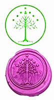 Tree Of Life Vintage Luxury Wax Seal Sealing Stamp Brass Peacock Metal Handle Sticks Melting Spoon