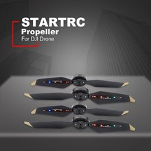 2 Pair LED Propellers STARTRC Rechargeable Quick Release Colorful Flash Propeller for DJI Mavic Pro with 40mAh Battery