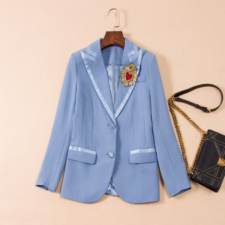 2019 Spring Women's Heavy Industry Love Embroidery Feelings OL Commuter Small Suit Coat Women Women Jackets And Coats