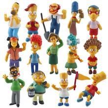 14 개/대 심슨 컬렉션 그림 장난감 장식 액션 그림 brinquedos 애니메이션 어린이 장난감 소매