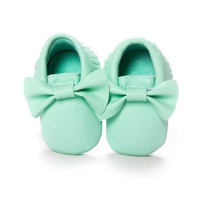 Baby Sko Soft Bottom PU læder Prewalkers Støvler Nyfødte Drenge Piger Sko Første Walkers Baby Moccasins 0-18 Months