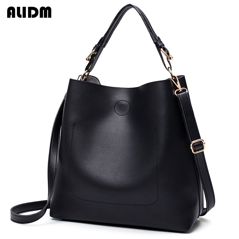2017 Famous Brand Women Large Capacity High Quality Pu Leather Handbag Simple Shoulder Bags Ladies Solid Totes Bolsas Femeninas famous brand women handbags pu leather bag women tote high quality ladies shoulder bags large capacity ladies top handle bags