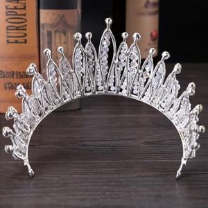 Image 3 - Fashion Luxury Silver Color Tiara Crown Bridal Hairband Rhinestone Crystal Headband Women Hair Jewelry Wedding Hair Accessories