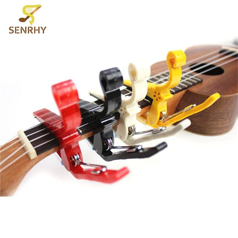 1Pcs Quick Change Clamp Key Capo Clamp For Acoustic Electric Classic Guitar Hard Plastic Color Random Parts & Accessories