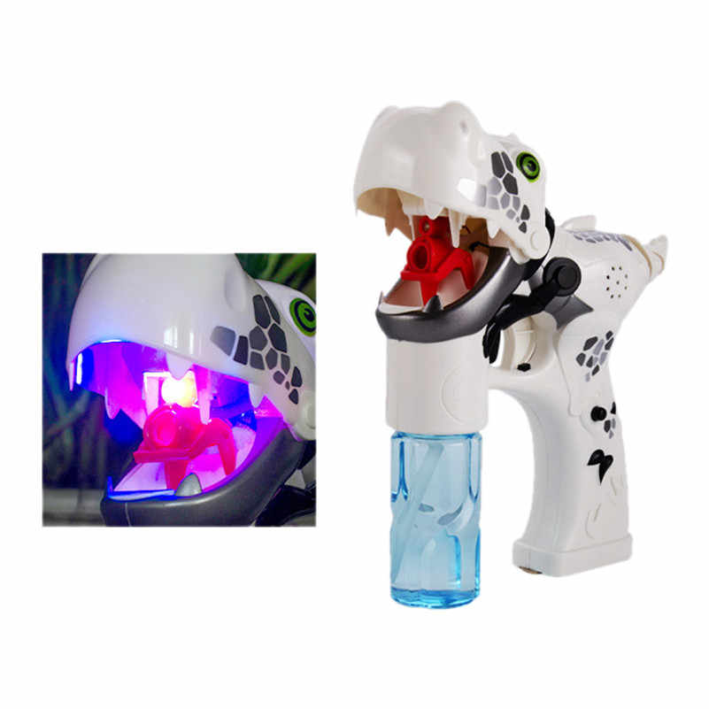 Динозавр пузырь мыльные пузыри с светодиодный мигалками и музыка игрушка для малыша летний плавательный машина открытый детские игрушки F1