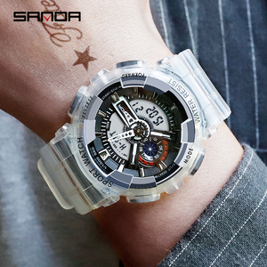 Image 3 - SANDA New Fashion Casual Sports Digital Couple Watch Waterproof LED Wristwatches For Men Women Lovers Watches Relogio Masculino