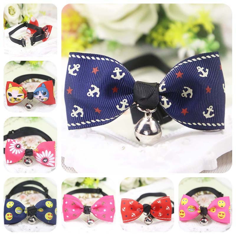 25 Styles Pet Bow Tie Cute Bell Small Dog Cat Puppy Bowties For Wedding Party Grooming Accessories Adjustable Neck 7-12.5 Inch