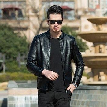 new high quality 8XL 7XL 6XL plus size Men Leather Jacket Genuine Real skin Brand Black Male Bomber Motorcycle Biker Man's Coat