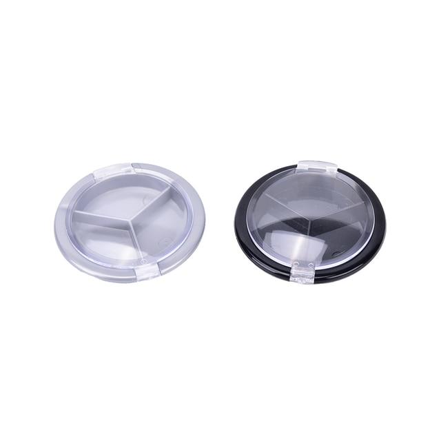 Outil de maquillage bricolage Mini plastique vide fard à paupières Palette étui unique pot rond poudre cosmétiques Compact échantillon conteneur 1 pièces