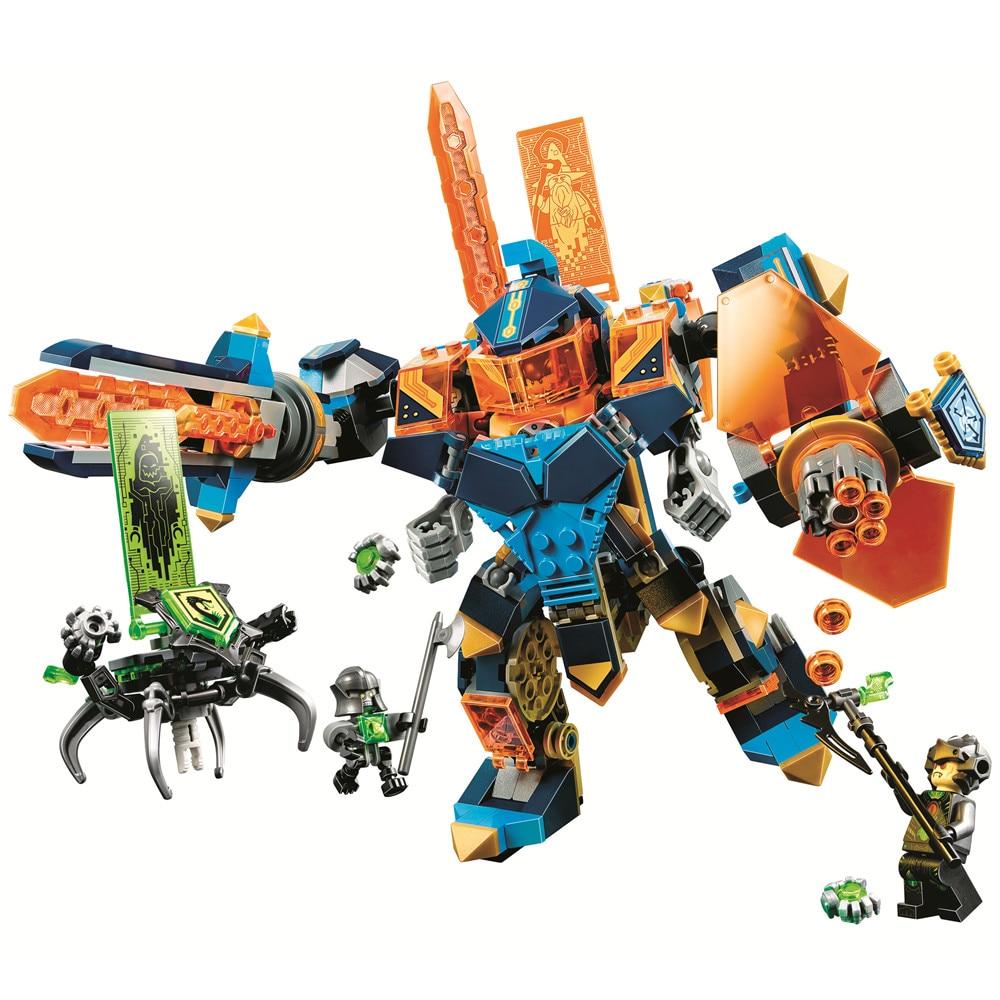 BELA Nexo Knights Tech Wizard Showdown Building Blocks Sets Kits Bricks Classic Model Toys Gift Marvel Compatible Legoe Nexus ...