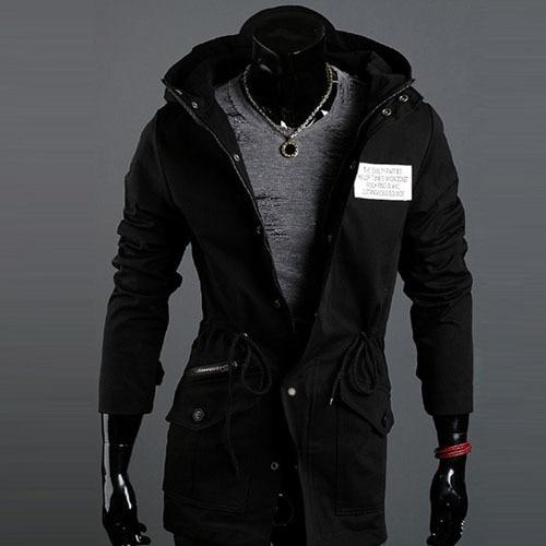 a510429cdb4e Summer Jacket Men 2015 Brand Cotton Long Jacket Men Hooded Fashion Casual  Plus Size Winter Jackets And Coats Casaco Masculino