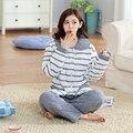 5 Шт./лот Оптовая теплая зима толстые Пижамы милые пижамы Тканые набор женщины пушистые домашняя одежда осень lounge пижамы Бесплатная Доставка