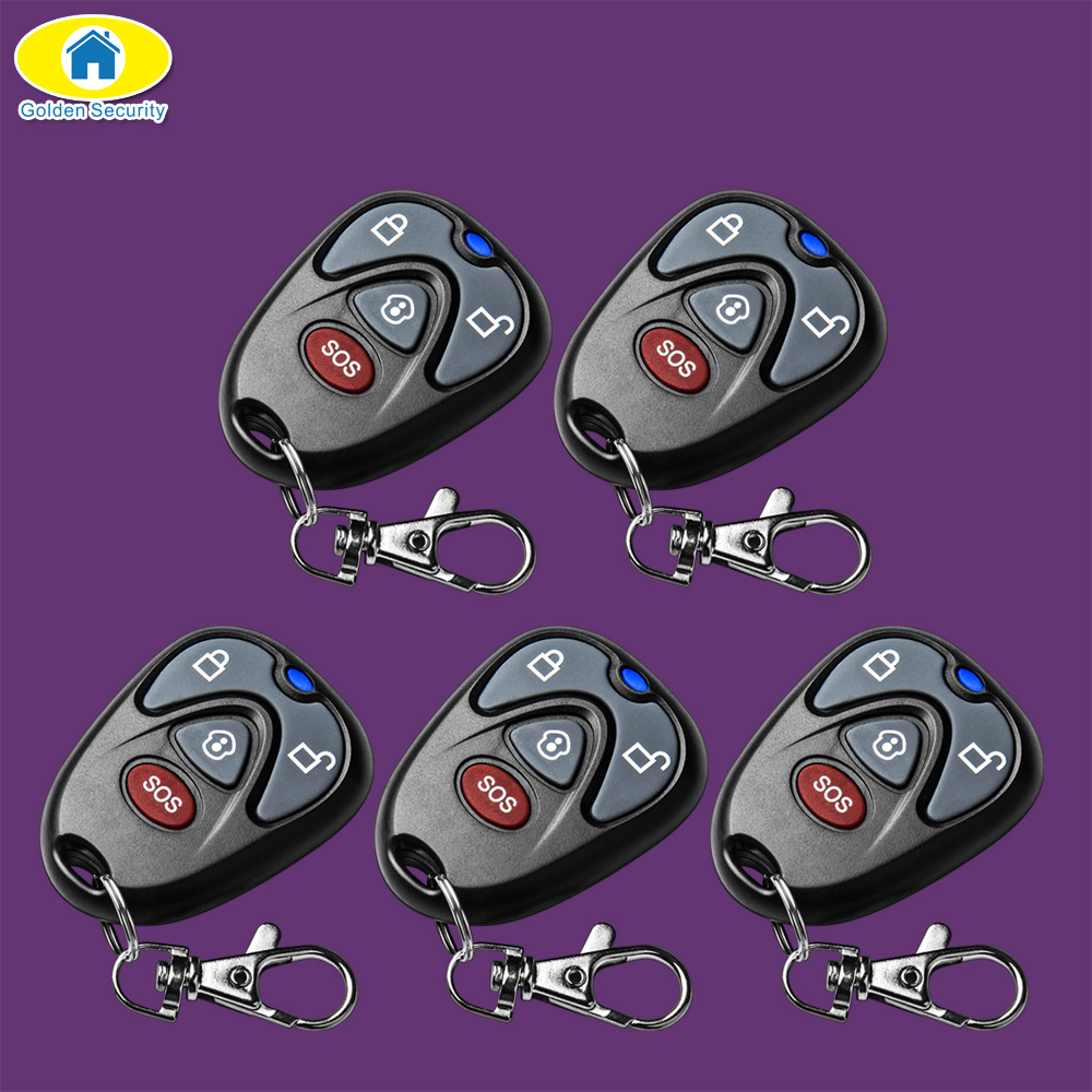 Golden Security High Quality 433Mhz Keychain Remote Control Gsm Remote For G90E G90B Wifi Alarm Systems Security Home