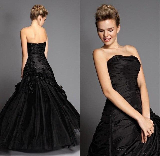 Sexy Victorian Gothic Prom Formal Dresses Black Elegant Dress