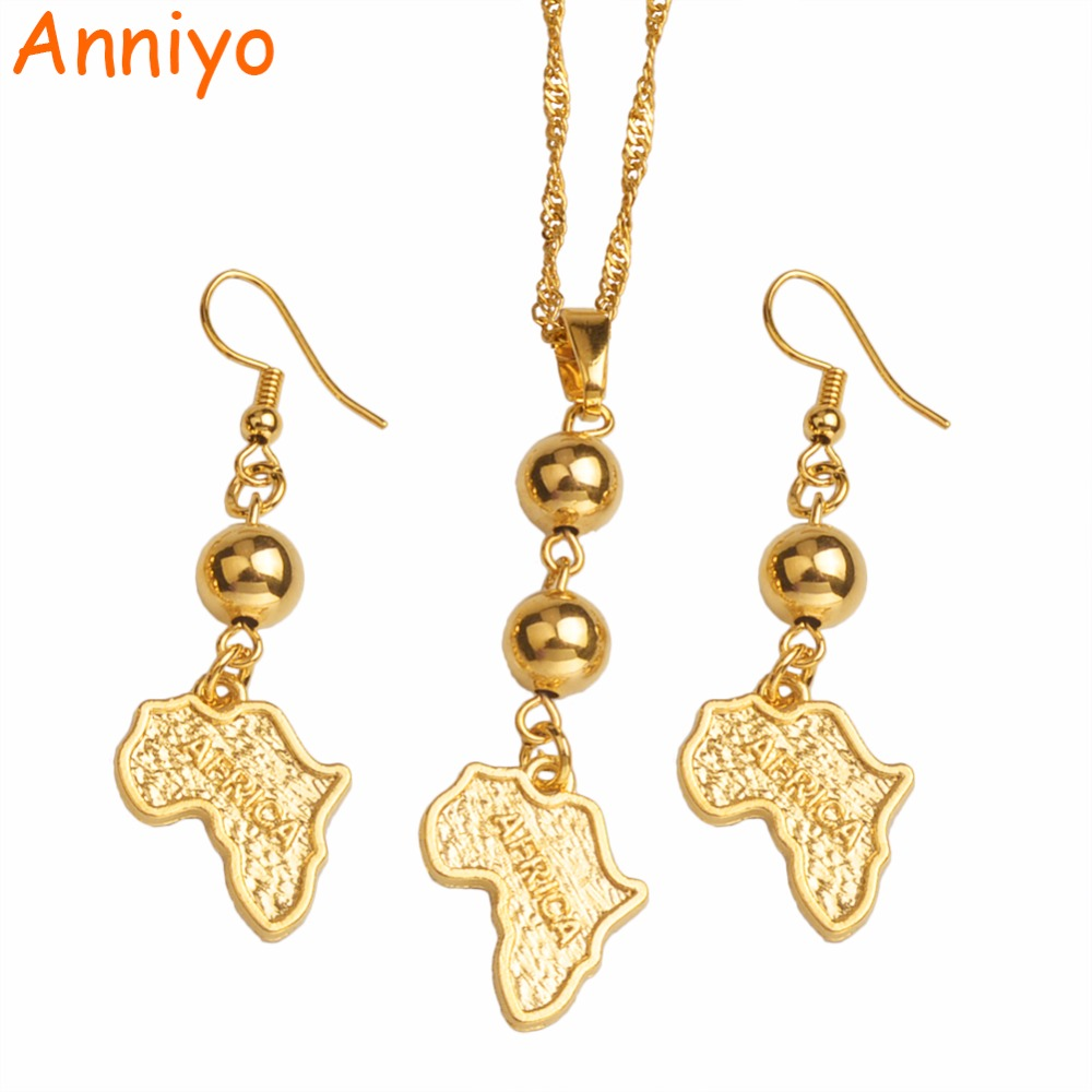 Aliexpress.com : Buy Anniyo Africa Map Jewelry Sets Bead