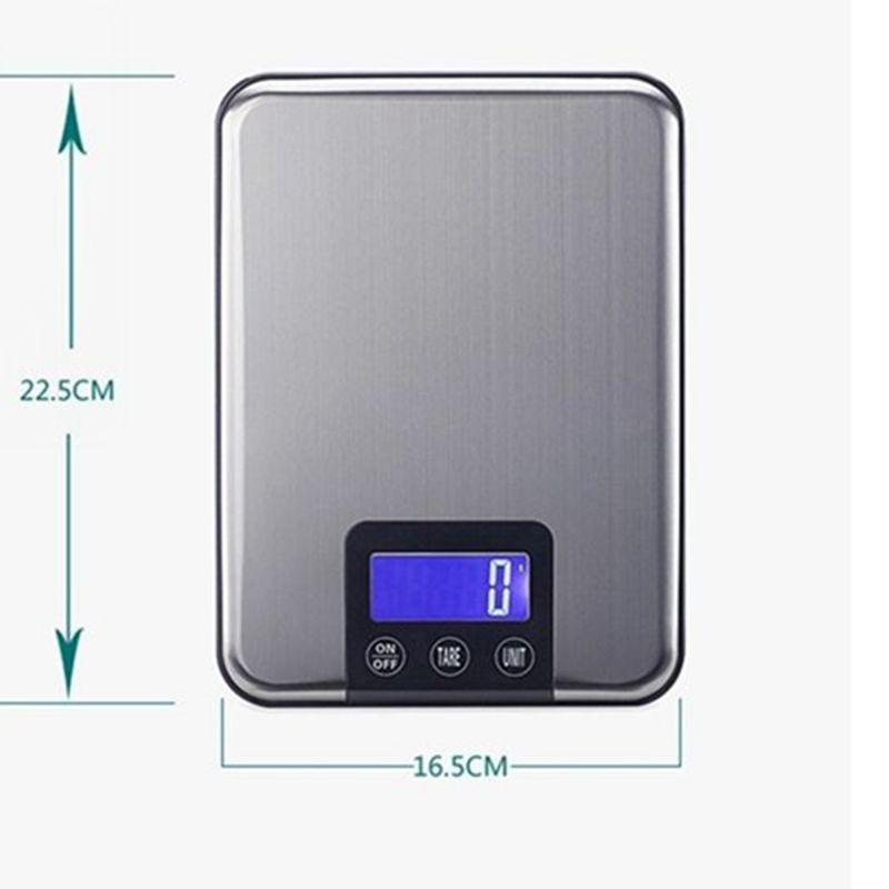 15 kg 1g bilance elettroniche da cucina di grandi dimensioni - Strumenti di misura - Fotografia 3