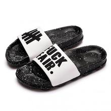 Fashion Letter Couple Slippers Summer Beach Sandals Men Women Outdoor Designers