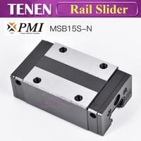 Original Taiwan PMI MSB15S N Slider Block Linear Guideway Carriage for CNC Router Laser Machine 3D Printer Equipment Parts