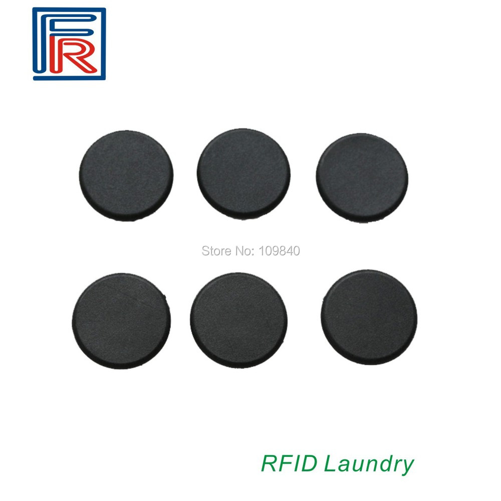 500pcs 13.56MHz pps rfid laundry tags/ diameter 20mm waterproof washable resistant temperature 100pcs high temperature resistant uhf rfid pps laundry tag small with alien h3 chip used for laundry management