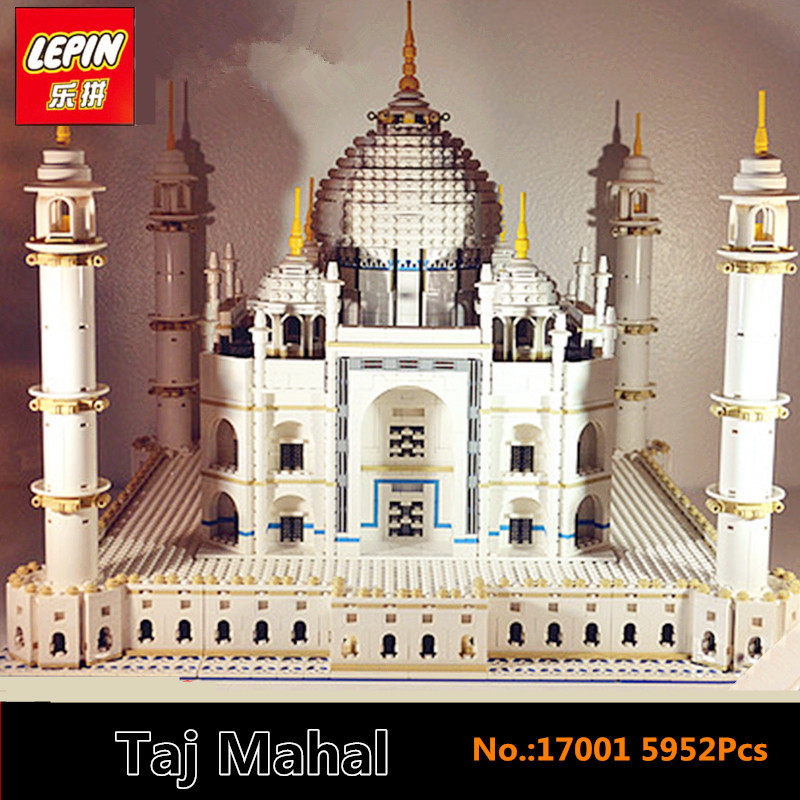 IN STOCK LEPIN 17001 5952PCS City Street Series The Tai Mahal Model Building Kits Assembling Brick Toys Compatible 10189 lepin17001 city street tai mahal model building blocks kids brick toys children christmas gift compatible 10189 educational toys
