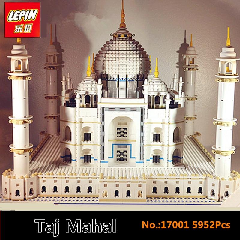 IN STOCK LEPIN 17001 5952PCS City Street Series The Tai Mahal Model Building Kits Assembling Brick Toys Compatible 10189 in stock new lepin 17004 city street series london bridge model building kits assembling brick toys compatible 10214