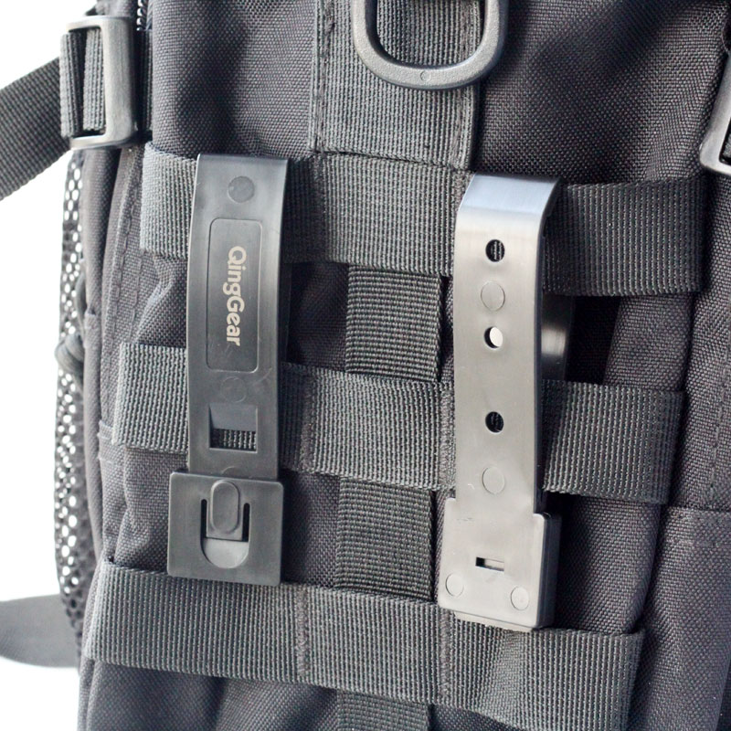 Image 5 - 12PCS QingGear Short 3 Inch MOLLE Kydex OTW Clips Black Durable Tactical Molle System Malice Strap Clip-in Tool Parts from Tools
