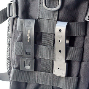 Image 5 - 12PCS QingGear Short 3 Inch MOLLE Kydex OTW Clips Black Durable Tactical Molle System Malice Strap Clip