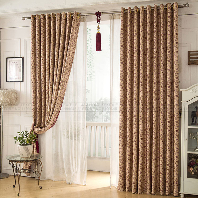 Rustic Curtains For Living Room Bedroom Blackout Window Treatment D Home Decor Free Shipping