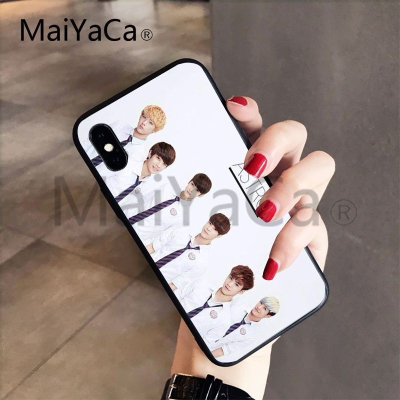 MaiYaCa KPOP ASTRO B.A.P Day6 Hot Selling Black Soft Shell Phone Case For Apple iphone 7 7plus X 8 8plus 6s 6 6plus 5 5s 5c