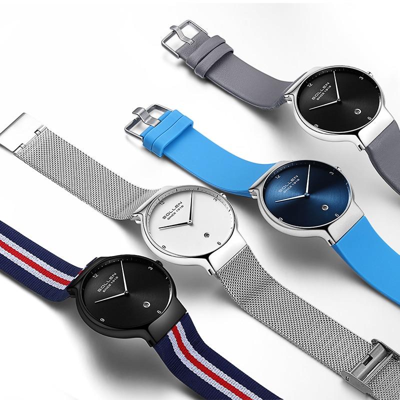 New Fashion Ladies Watches luxury brand watch Women quartz watch stainless steel mesh strap ultra thin dial clock reloj mujer - 6
