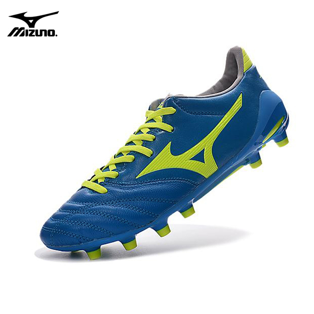 Mizuno NEO II TF 4MD Bas Wave Ignitus Soccer Spikes Men Running shoes Blue  Colors Weightlifting Shoes Size 39-45 5ab8c1794c
