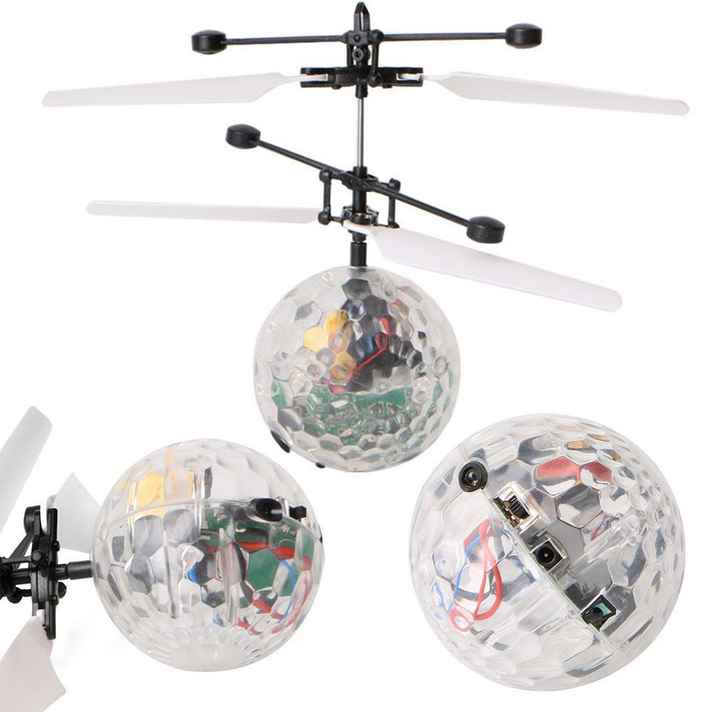 10 pcs/pack RC Ballon Lumineux Enfant de Vol Boules Électronique Infrarouge Induction Aéronefs Télécommande Jouets LED Lumière Jouets - 6