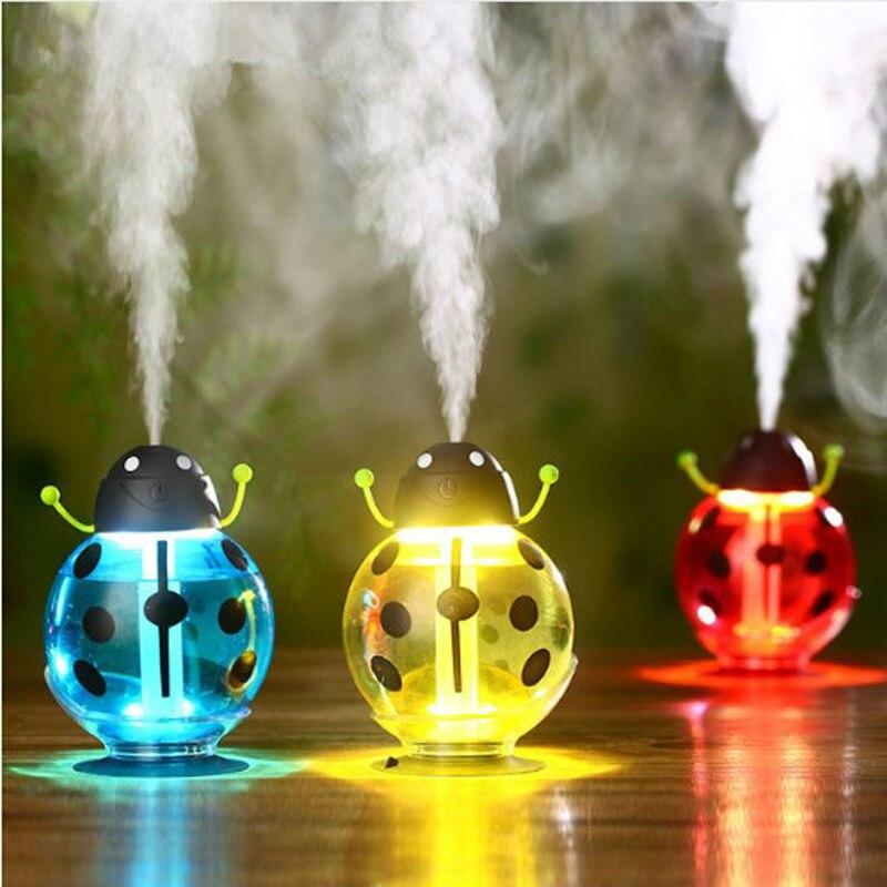 Ejoai Beetle Humidificateur USB Humidificateur Aroma Diffuseur Aromathérapie Huile Essentielle Diffuseur Portable Mist Maker 260 ml LED Nuit