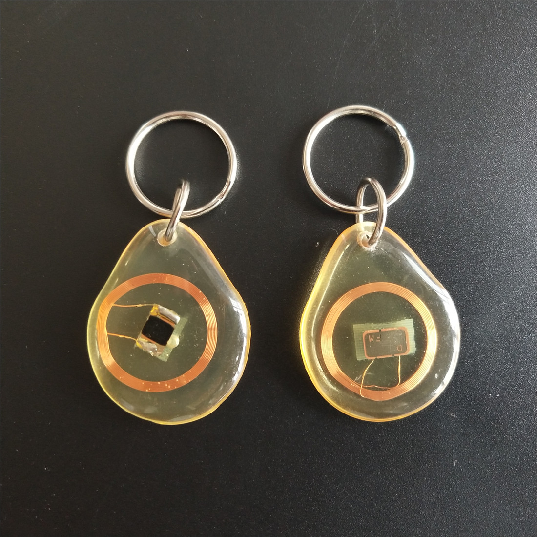 13.56MHZ MF 1K S50 FM11RF08 F08 NFC Transparent Trops of Glue Card RFID Key Tag Key Ring 13 56mhz mf 1k s50 fm11rf08 f08 nfc transparent trops of glue card rfid key tag key ring