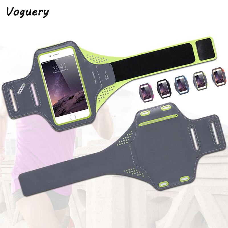 Voguery Sports Case for iPhone 8 Plus Gym Shell Running Riding Sportband Arm Band Jogging Case for iPhone 8 Fundas Workout Cover