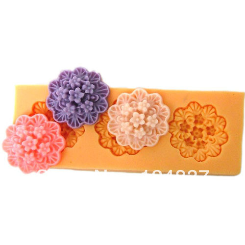 20mm mini 3 flowers fondant mold cheap cake decorating
