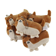 12cm 5pcs set New Cute Shiba Inu Cushion Cartoon Dog keychain Plush Toy Kids Birthday Toy