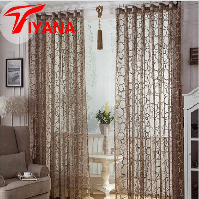 High quality fashion brief jacquard bird nest voile - Window curtain ideas for living room ...