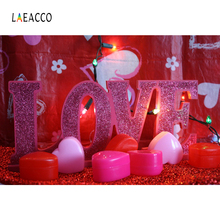 hot deal buy laeacco photo backdrops red love candle birthday party celebration valentine's day portrait photo backgrounds for photo studio