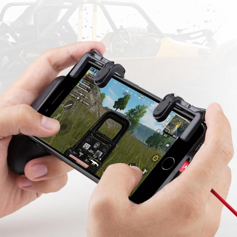 VODOOL Mobile Phone Game Physical Joysticks Game Controller Assist Tool for STG FPS TPS Game Trigger Fire Button Aim Key