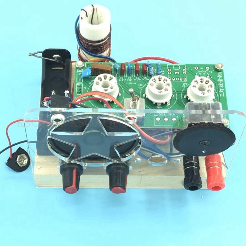 DC trois lampes à ondes courtes tube électronique radio CW SSB récepteur avec produit fini de base-in Radio from Electronique    1