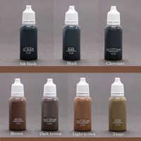 7Pcs/Pack Eyebrow&eyeliner& lip Permanent Makeup Tattoo ink brand Micro pigment Lasting Long 15ml cosmetics supply