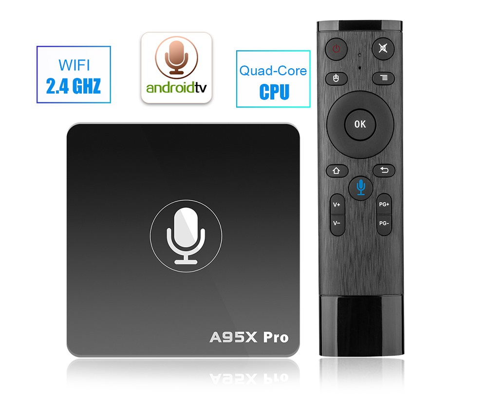 A95X PRO TV Box with Voice Control Amlogic S905W Android 2GB RAM 16GB ROM 2.4G WiFi 100Mbps H.265 Support Youtube 4K Netflix HD все цены