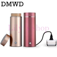 DMWD Portable Mini Electric Kettle Electric Heating Cup For Travel Stainless Steel Tea Coffee Milk Boiling
